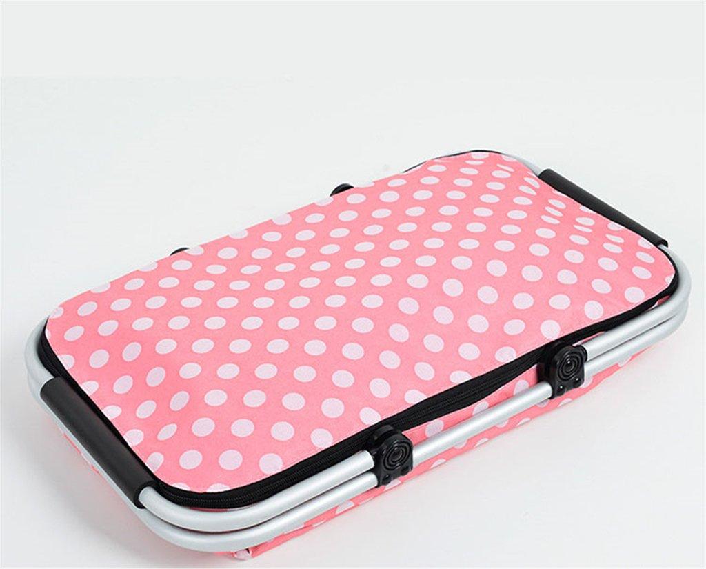 Gabrielley Grande pliable en aluminium de 32L Sac de pique-nique Sac isotherme durable Tote-pink Dot HWWYEU