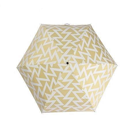 Paraguas - Super Ligero Caucho Negro Paraguas Pequeñas Rayas Frescas Corea Mitad Doble Paraguas Plegable,