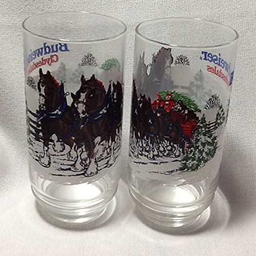 vintage-anheuser-busch-collectible-glass-budweiser-clydesdales-glasses-set-of-2-glasses