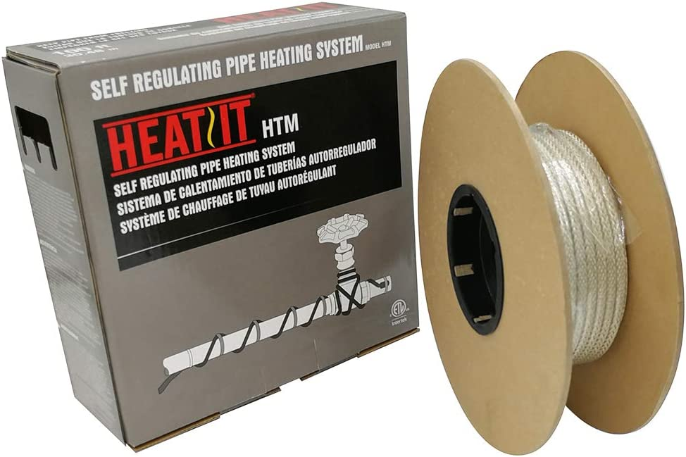 HEATIT Mobile Home 500-feet HEATIT HTM Braid Self Regulating heating cable Water Line Freeze Protection - -