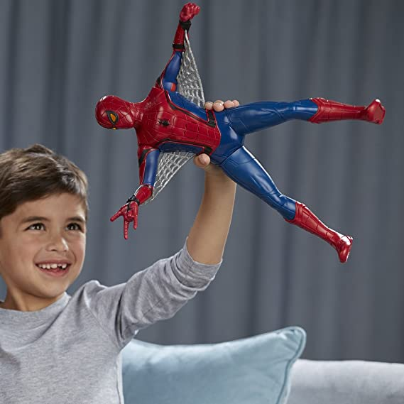 Super eroe uomo ragno uscita della luce 10 cm Figure pacchetto regalo
