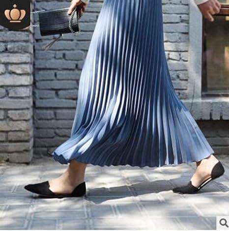 HEHEAB Falda,Azul Cielo Mujeres Vintage Falda Falda Larga Saias ...