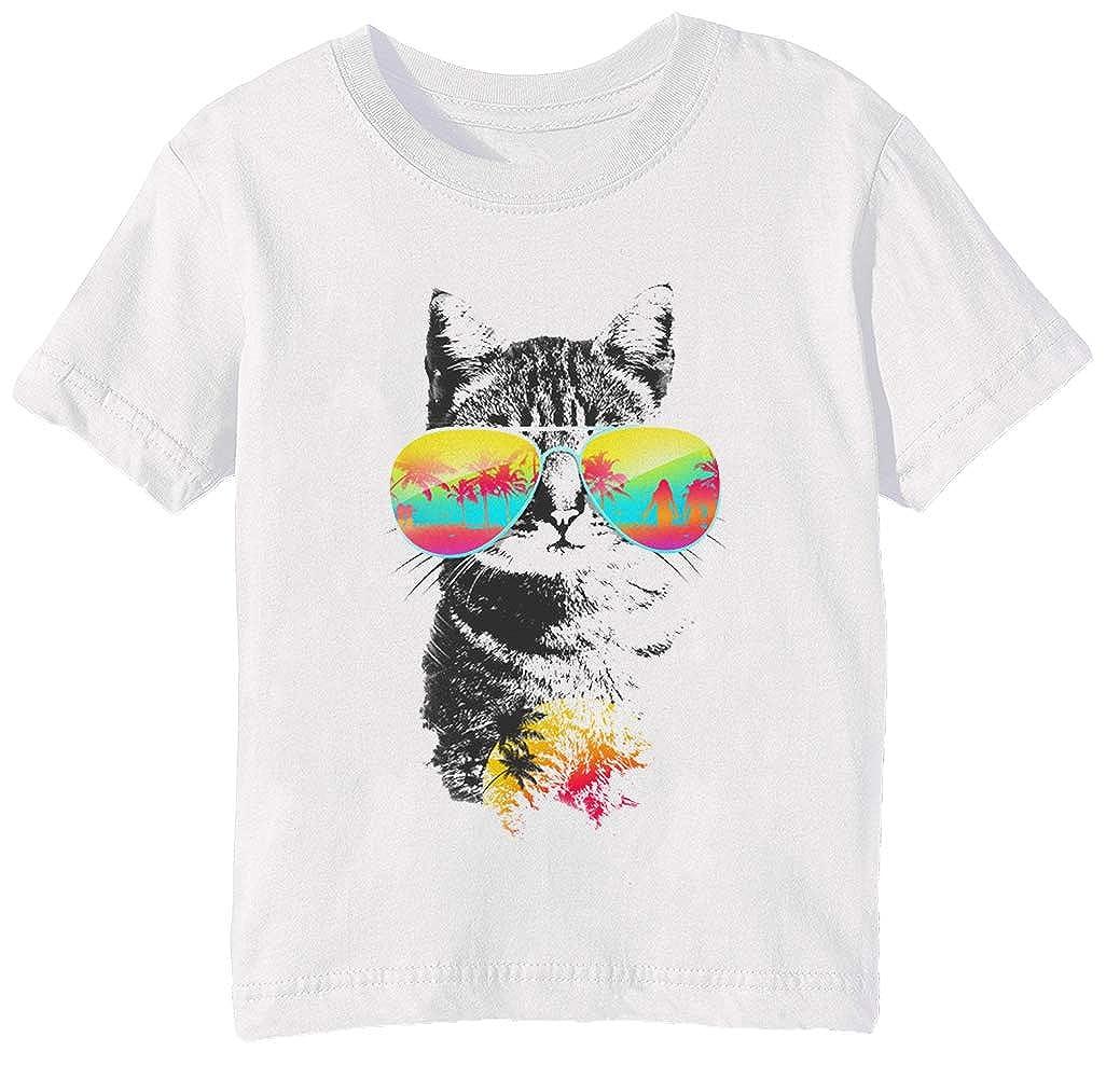 Gato Brisa - Gato Niños Unisexo Niño Niña Camiseta Cuello Redondo ...