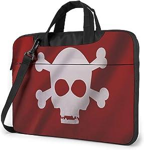 The Flag of Pirates Laptop Shoulder Messenger Bag,Laptop Shoulder Bag Carrying Case with Handle Laptop Case Laptop Briefcase 14 Inch Fits 13 inch Netbook/Laptop