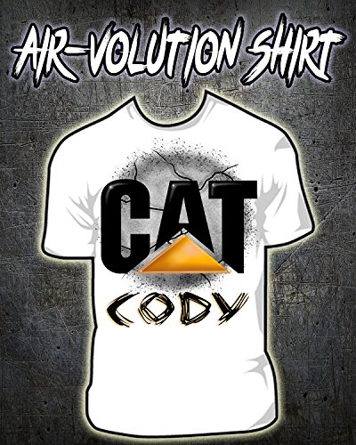 Personalized Airbrushed CAT symbol Shirt ()