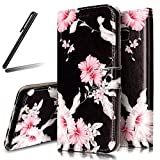 Galaxy S8 Plus Stand Case,Samsung Galaxy S8 Plus Wallet Case,Galaxy S8 Plus Flip Case,SKYMARS Samsung Galaxy S8 Plus 2017 Cover Marble Creative Design PU Leather Flip Kickstand Cards Slot Wallet Magnet Stand Case for Samsung Galaxy S8 Plus 2017 Pink Flower