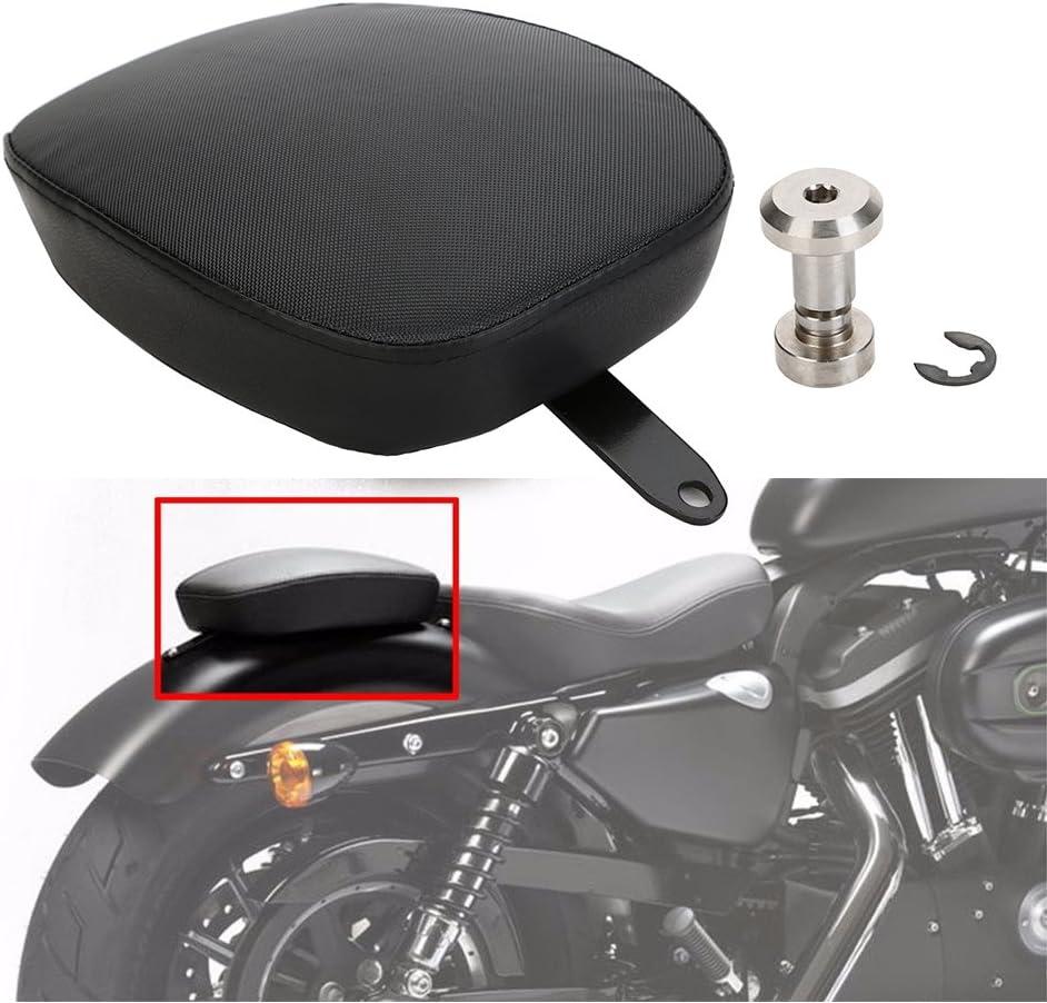 Eclear Motorrad Universal Pillion Seat Sitz Pad Soziussitz Solositz Sitzpad Für Harley Forty Eight Xl1200x 2010 2015 Seventy Two Xl1200v 2012 2015 Auto