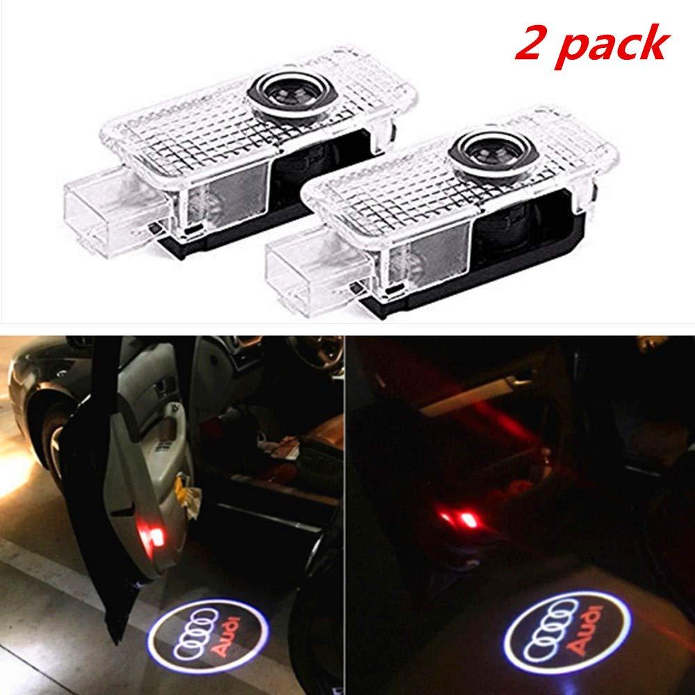 Lampada da auto a 2 pezzi LED Lighting Proiettore Ghost Shadow Proiettore Welcome Light Logo Light Ruesious