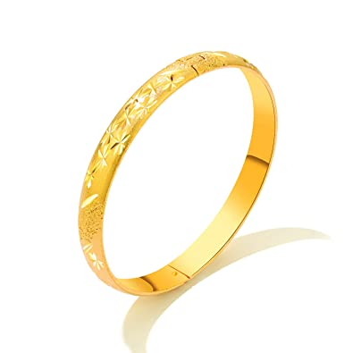 8ac5015d0945 Image Unavailable. Image not available for. Color  Felicelia Classical 18k  Gold Plated Bangle ...