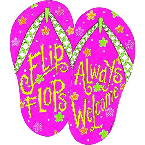 (Custom Decor Hang Around - Flip Flops Welcome #2141 )