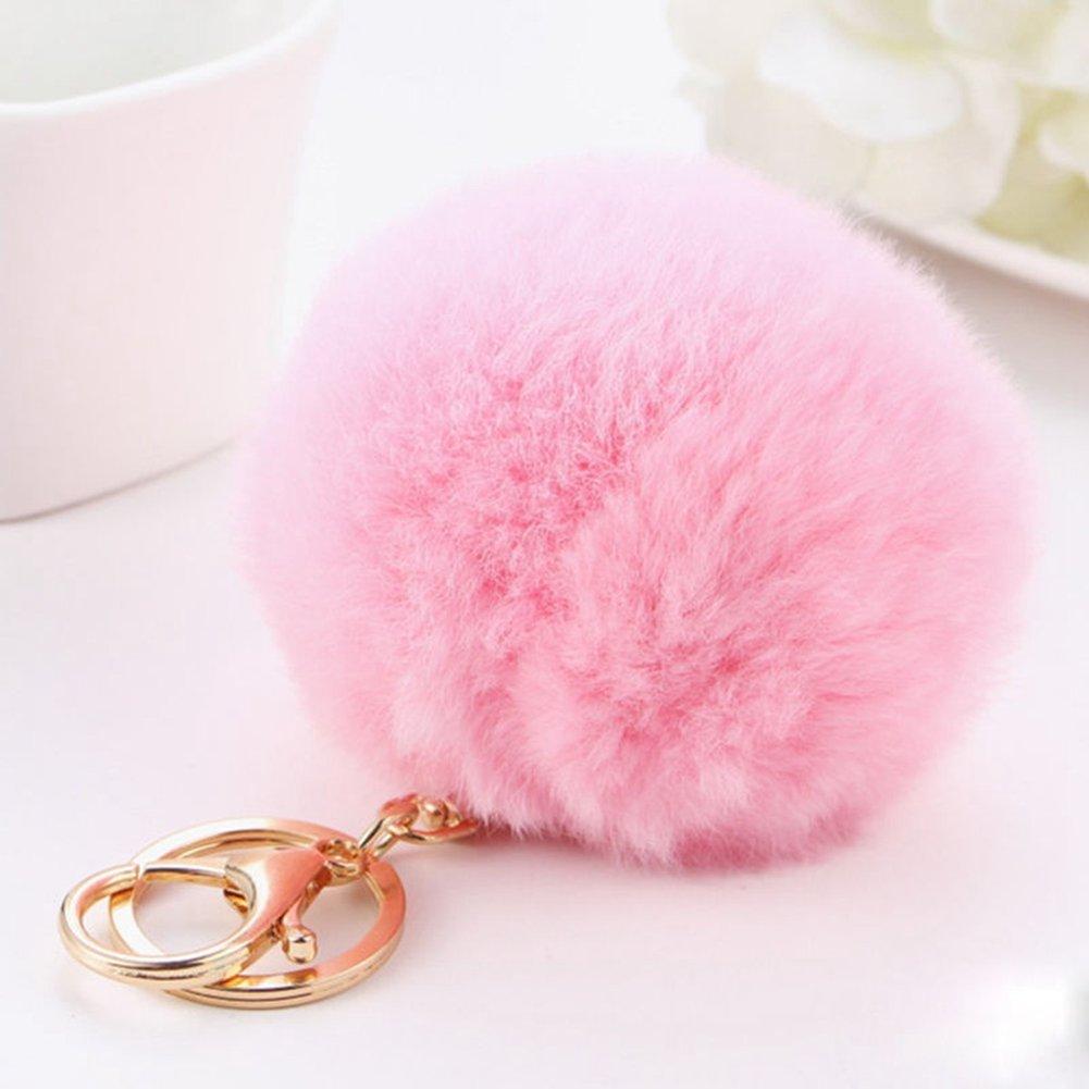 (Mother's Day Gift )Pom Pom Keyring,Fluffy Keyring,Keyring Pom Pom, Balls Keyring Balls Cellphone Charm Bag Pendant Keychain(Pusheng) d04334