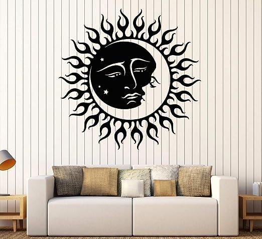 zzlfn3lv Sol y Luna Estrellas Pegatinas de Pared de Vinilo ...