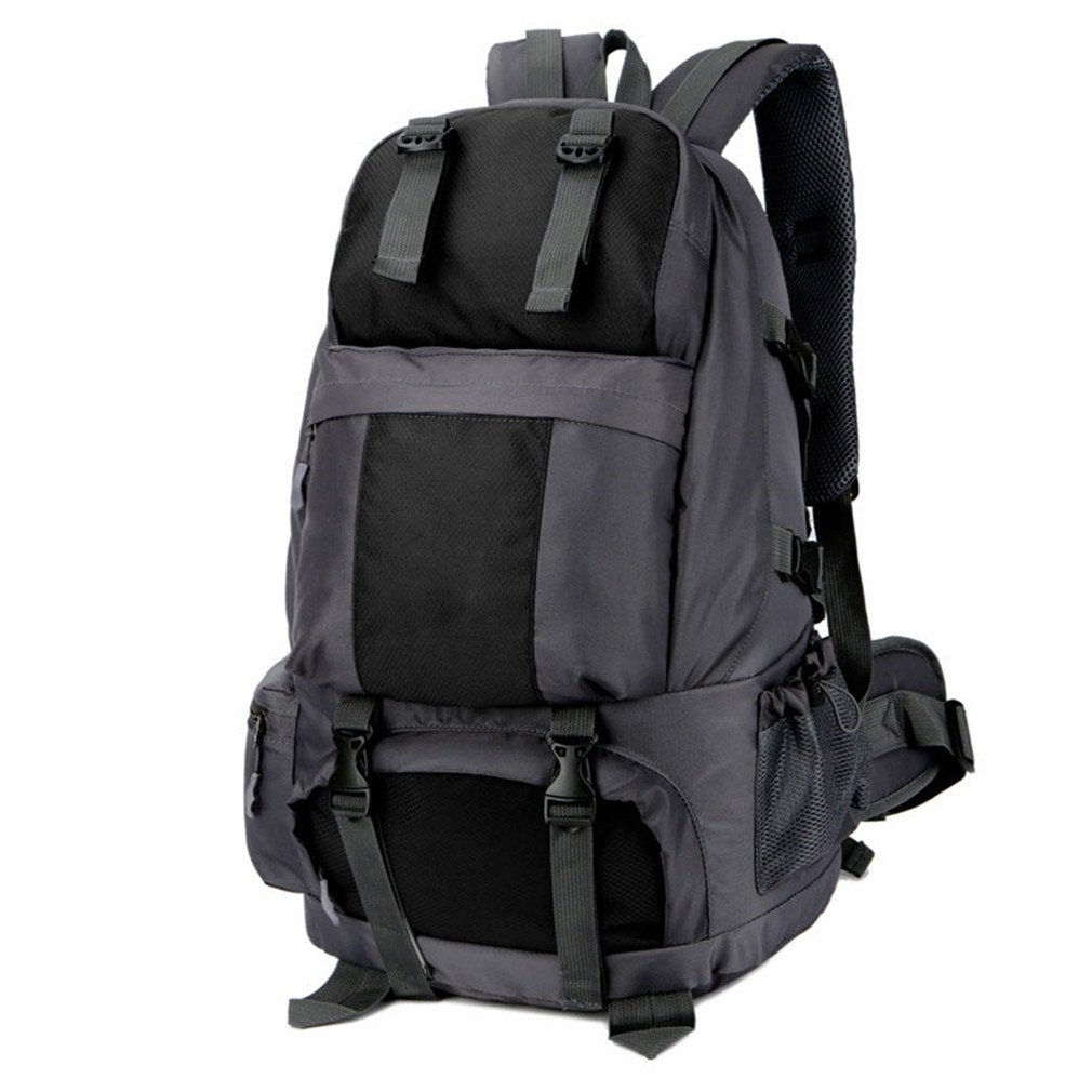 1d27c1d396 Amazon.com   KEXKL Outdoor Sports Climbing Bags Lightweight Waterproof Nylon  Sports Bag Men Women Large Capacity Hiking Backpack Black Color 30-40L    Sports ...