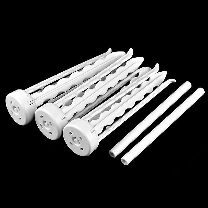 Amazon.com: eDealMax plástico 2 Nivel Diseño 4 Armas de secado goma de la goma de las Flores de la planta del estante del soporte del sostenedor: Home & ...