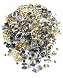 Nailheads - Spots - Studs - 500 pcs Mixed Nailheads - Mixed Studs - Mixed Shapes, Sizes and Colors - Premium Quality Brass Nailheads
