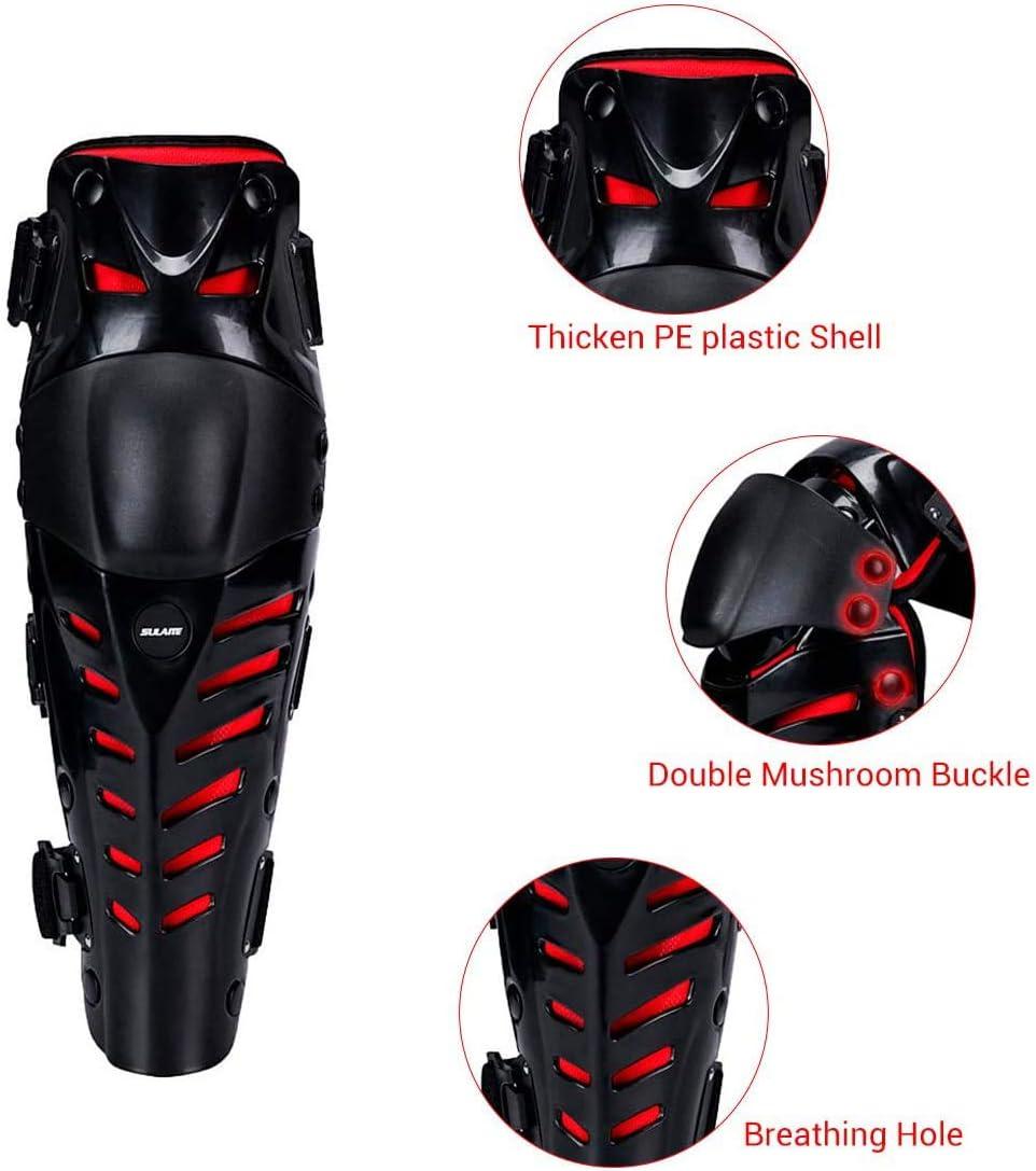 c/ómodas para todoterreno monopat/ín moto para motocross carreras QMYS ajustables rodilleras Rodilleras protectoras para motocicletas y rodillas