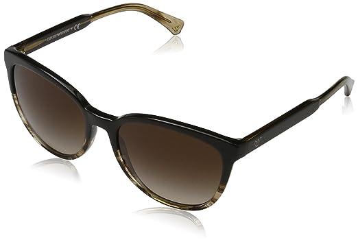 c844f7f29de Image Unavailable. Image not available for. Color  Emporio Armani EA4101  556713 Brown Beige EA4101 Square Sunglasses ...