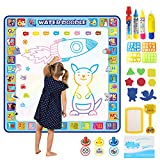 Tobeape 100 X 100 cm Extra Large Aqua Magic Doodle Mat, Colorful Educational Water Drawing Doodling Mat Coloring Mat for Kids Toddlers Boys Girls Age of 2 3 4 5 6 7 8