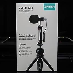Amazon 外付けマイク Frunsi ビデオ外付けマイク スマホ外付けマイク 高音質集音 動画ノイズ軽減 スマホクリップ三脚セット 単一指向性 スマホ Nikon Canon Sonyカメラ Dvカメラ アクションカメラ 外付けマイク 通販