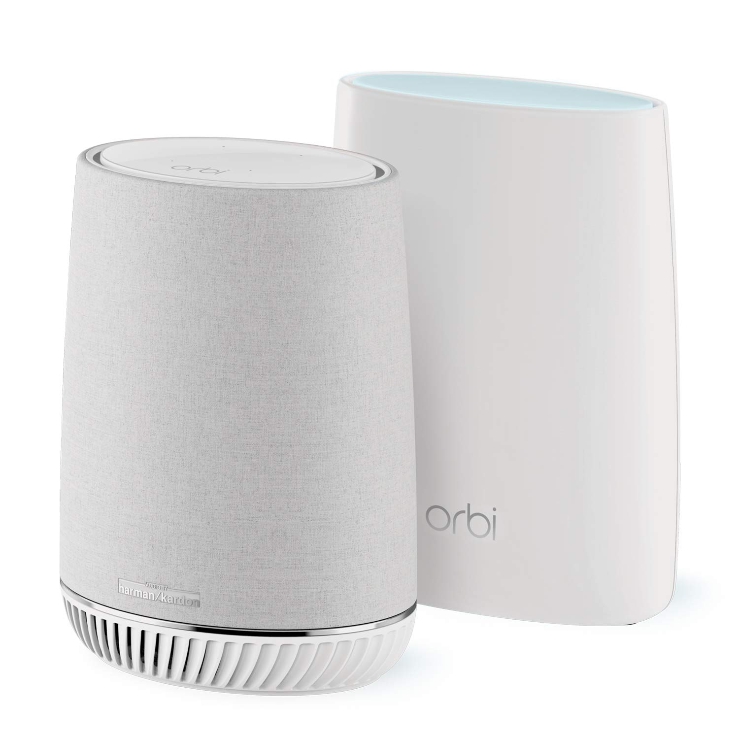 NETGEAR Orbi Voice Whole Home Mesh WiFi System - fastest WiFi router and satellite extender with Amazon Alexa and Harman Kardon speaker built in, AC3000 (RBK50V)