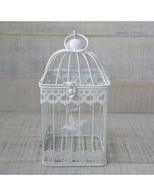 Jaula Decorativa Metálica, Color Blanco, con diseño Elegante ...