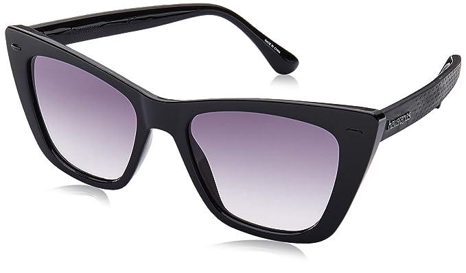 Havaianas Canoa Gafas de Sol, Multicolor (Black), 52 para ...