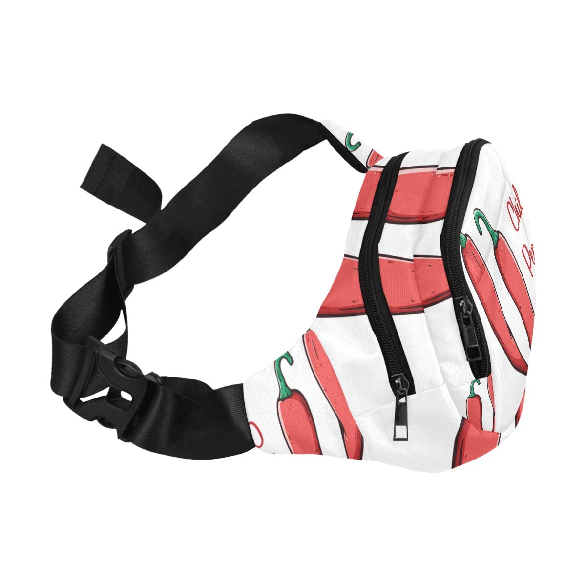 Red Hot Chili Pepper Hand Drawn Fenny Packs Waist Bags Adjustable Belt Waterproof Nylon Travel Running Sport Vacation Party For Men Women Boys Girls Kids