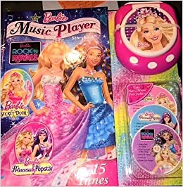 barbie music player storybook amazon com books