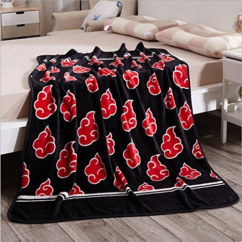 NARUTO Red Clouds Bed Blanket-Judy Dre am Thicken Soft CORAL
