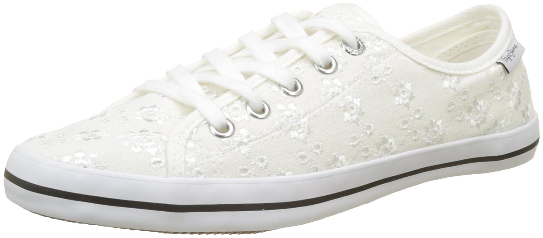 Pepe Jeans Gery Anglaise, Zapatillas Mujer 38 EU|Blanco (White)