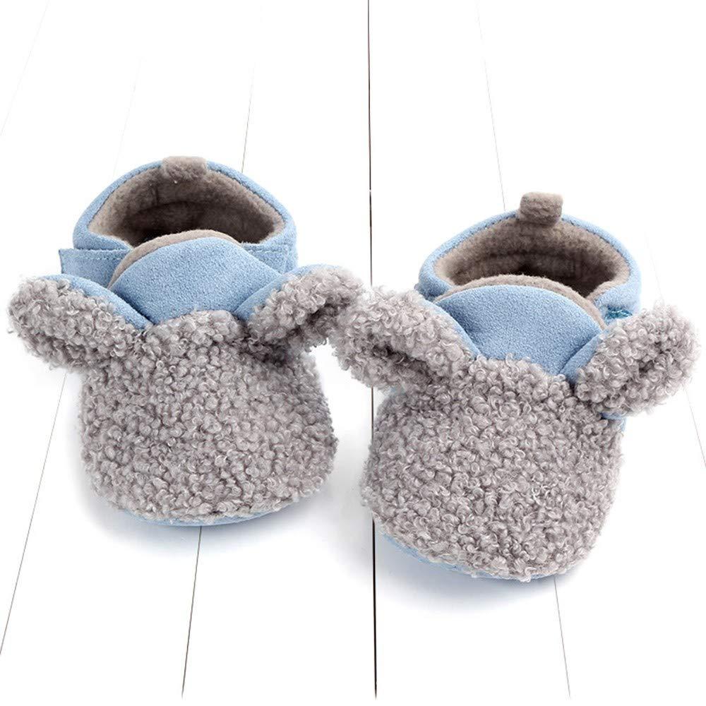 Newborn Baby Girls Boys Flock Ear Warm Winter Non-Slip First Walker Soft Sole Lightweight Shoes Ideal Baby Registry Gifts 0M-18M