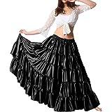 Details about  /Purple Cotton 25 Yard Skirt 4 Tier Tribal Belly Dance Gypsy 25 Yard Skirt Falda