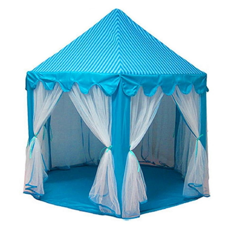 Upgrades Korean Six Angle Princess Castle Gauze Tent House Large Indoor Toy Game House Mosquito Tent