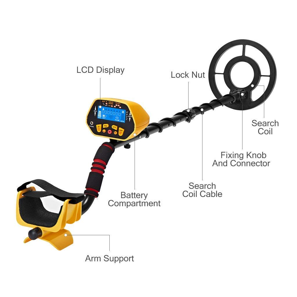 Amazon.com: Garrett New URCERI Metal Detector Waterproof 2 Modes Outdoor Gold Digger with Sensitive Search Coil LCD Display for Beginners Professionals, ...