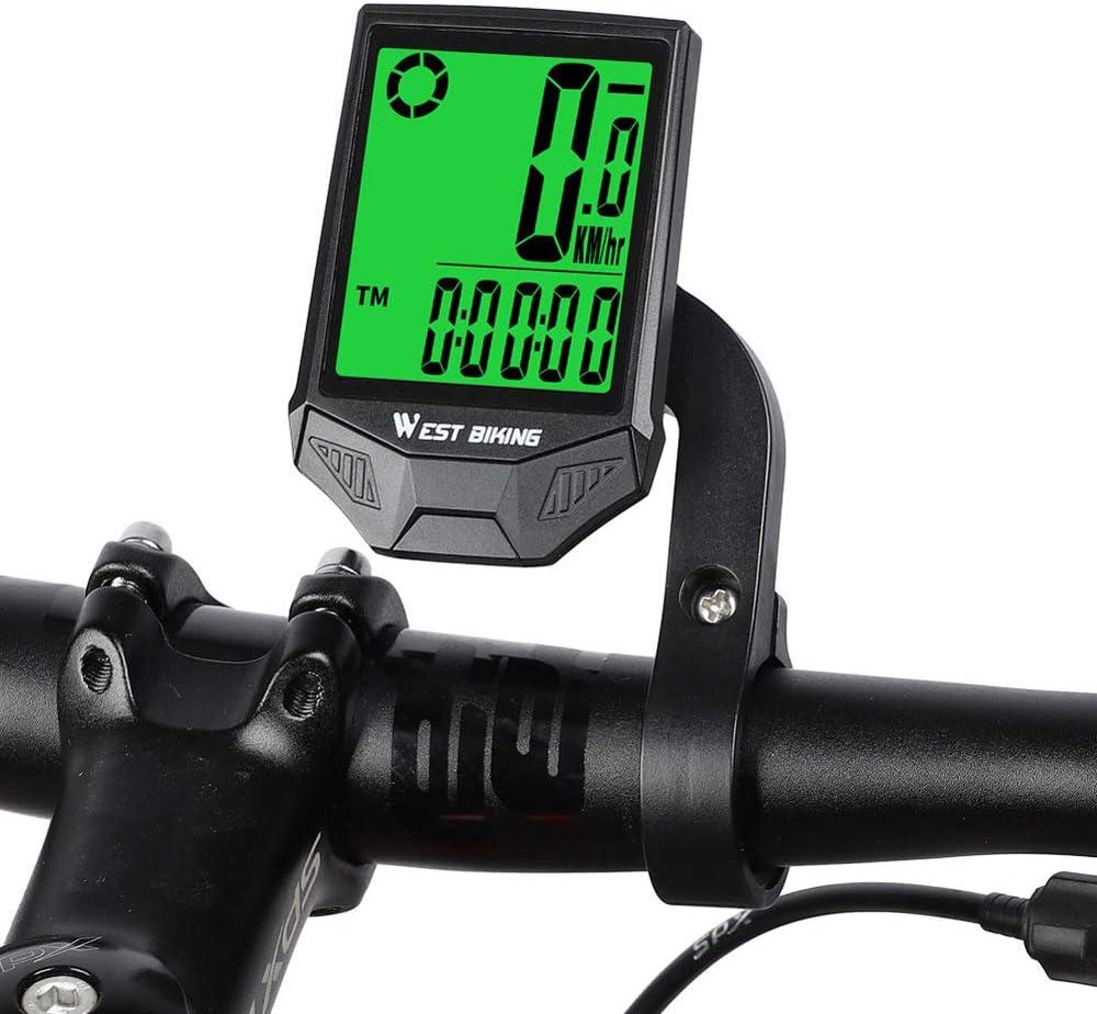 Wireless LCD Bike Computer Speedo Odometer Waterproof Cycle Bicycle Speedometer
