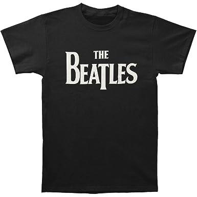 Amazon.com: The Beatles Solid White Logo Men's Black T-Shirt: Clothing