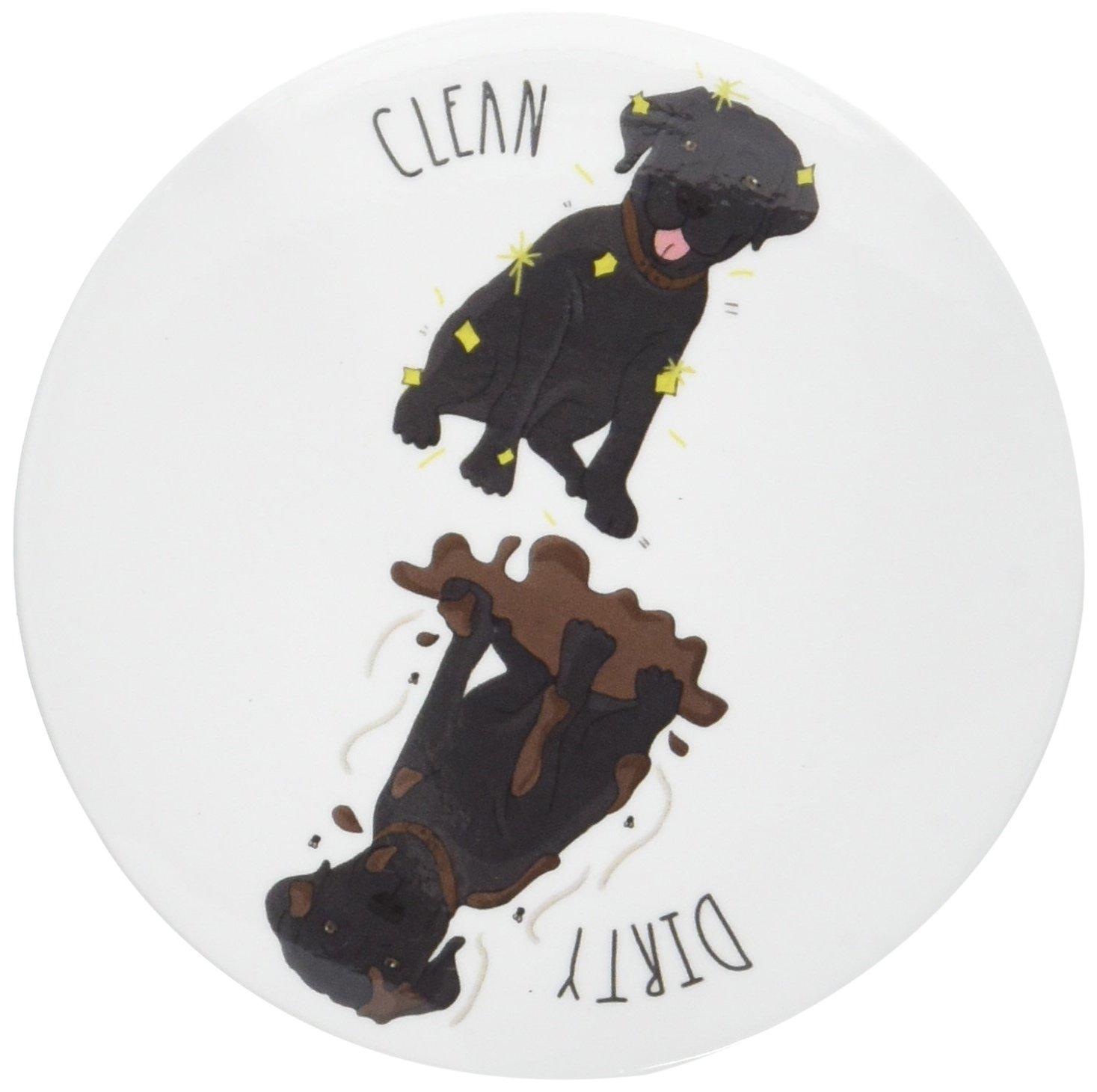 Sutter Signs Clean Dirty Dog Dishwasher Magnet (Black Lab)