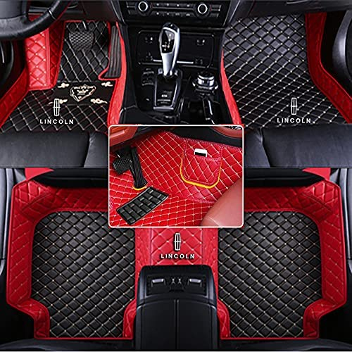 Fit for Lincoln Navigator MKC MKZ MKS 2010-2020 All Weather Car-Styling Custom Luxury Leather Waterproof Floor Mats Logo