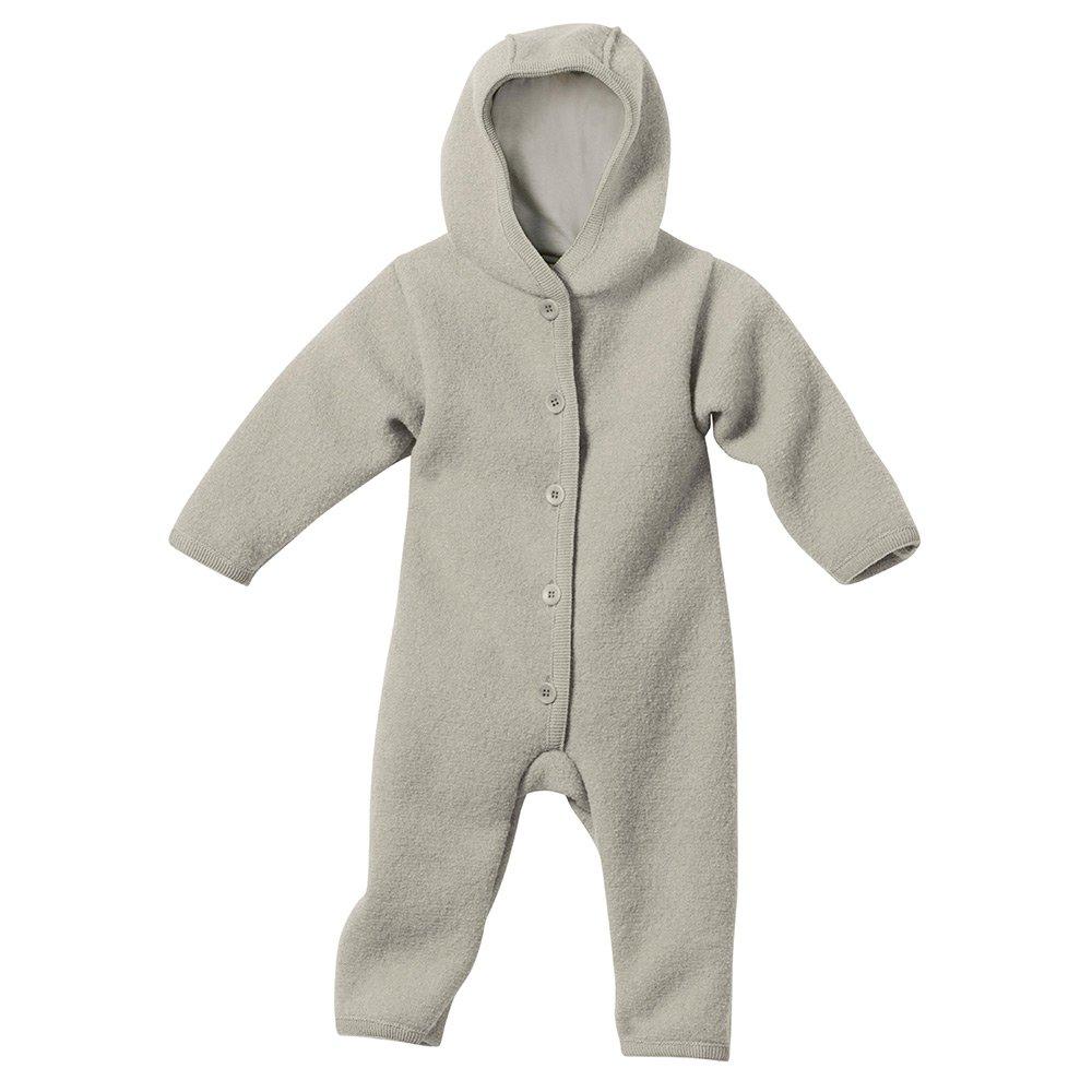 Disana Baby Walk Overall aus Bio Schurwolle kbT, grau Gr. 74/80 361-10