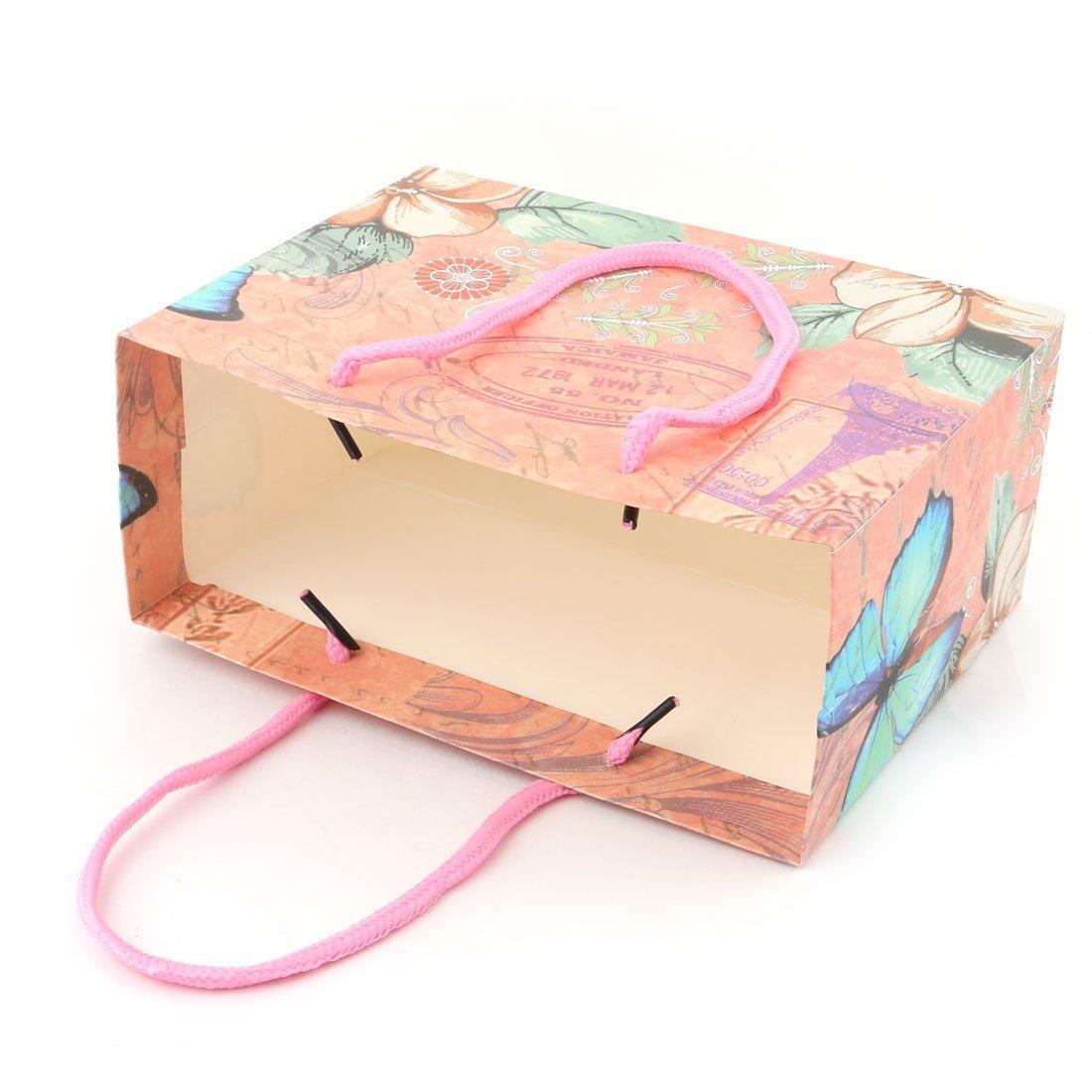Amazon.com: eDealMax Almacenamiento Regalo Patrón Flor de la boda de Papel de vacaciones de cumpleaños Bolsa de Titular 4 PC Color clasificado: Home & ...