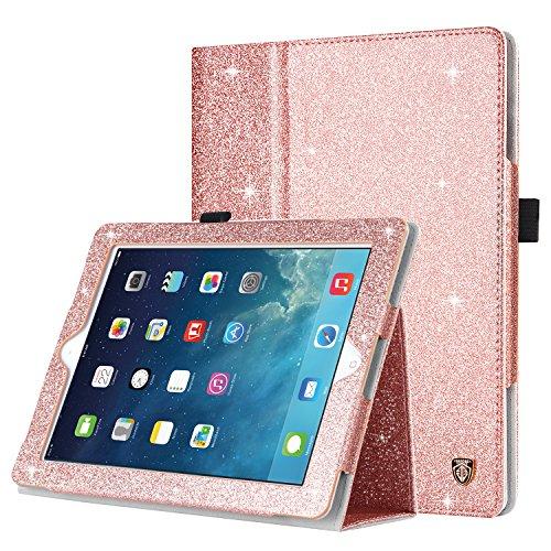 iPad 2 Case, iPad 3 Case, iPad 4 Case, BENTOBEN Glitter Sparkly Slim Lightweight Faux Leather Folio Folding