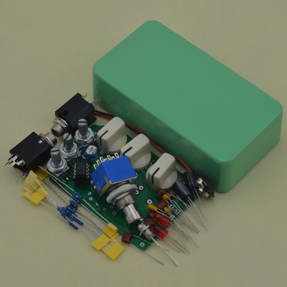 TTONE Make Your Own Distortion Guitar Pedal DS-1 Effects Stompbox Kit Tender Green No Holes