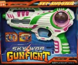 Allkindathings  Kids Flashing LED Gunfight Space Pistol Ray Gun with Firing Sound Laser Toy White