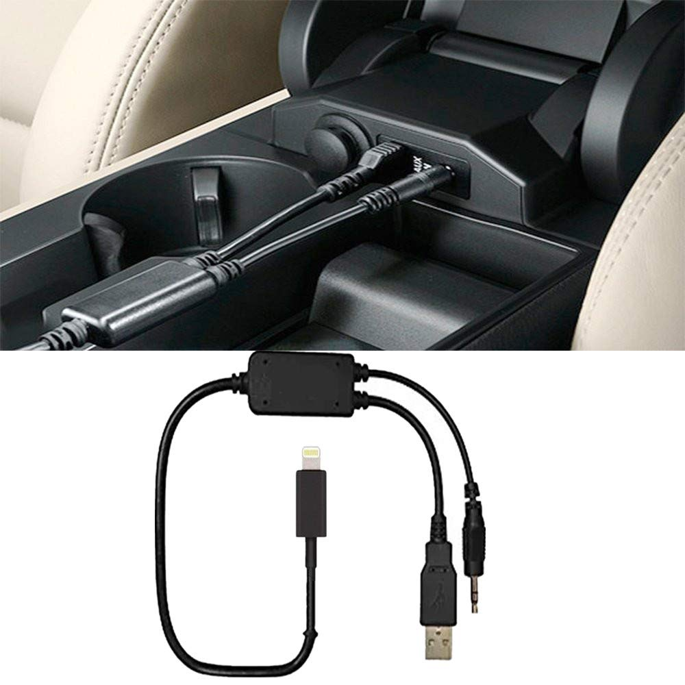 99,1/ cm jack da 3.5/ mm USB e AUX IN cavo per Ipxs XS max XR x 8/ 7/ 7/ Plus per BMW y cavo Shine compatibile interfaccia musica y cavo adattatore AUX