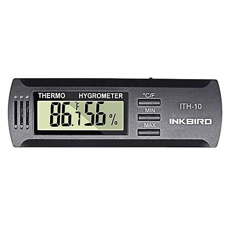 Inkbird Alta precisión DC 3 V Entrada Digital termómetro y medidor de Humedad higrómetro ITH-