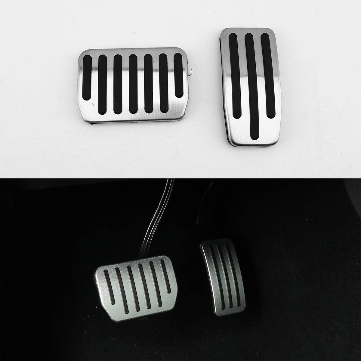 3pack Accelerator Gas /& Brake /& Foot Rest Foot Pedal Pads Anti-Slip Aluminum Foot Pedal Pads Cover Set for Tesla Model 3 Rest + brake + throttle