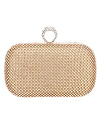 Fawziya Bling Clutch Purses For Women Clutches And Evening Bags-Gold
