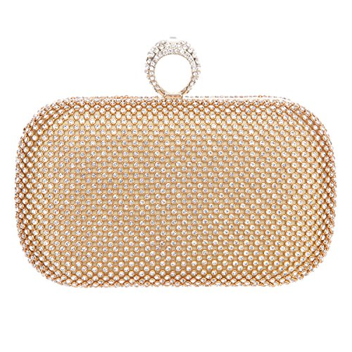 Fawziya Knuckle Clutch Purses For Women Clutches And Evening Bags-Gold