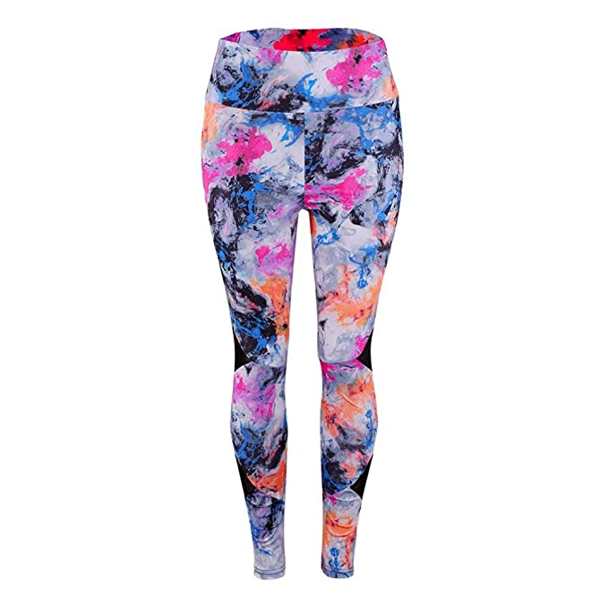lunaanco Dios CREA Mujeres Mallas Deportes Mujer☭Leggings Yoga Pantalon de Encaje☭Cintura para