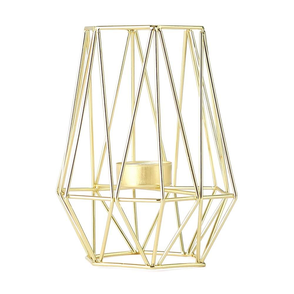 Zehui Trade Rose Gold Geometric Tea Light Candle Holder Stand ...